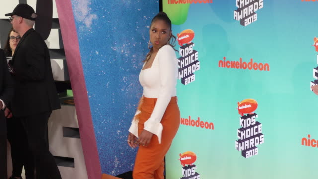 jennifer hudson at the nickelodeon's 2019 kids' choice awards at galen center on march 23 2019 in los angeles california - nickelodeon kids' choice awards stock videos & royalty-free footage