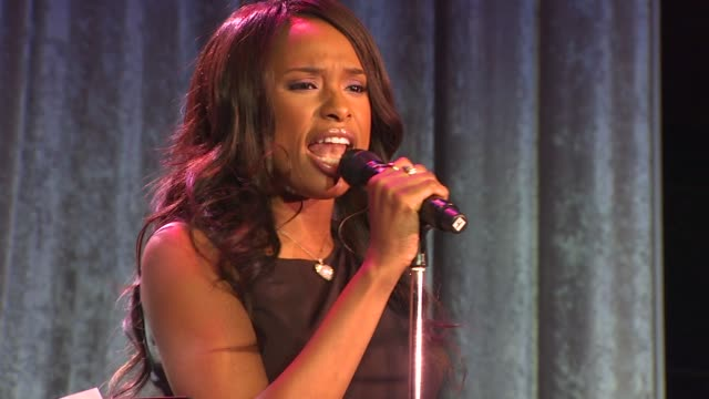 jennifer hudson at the pregrammy gala and salute to industry icons junket at beverly hills ca - jennifer hudson stock videos & royalty-free footage