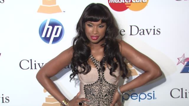 jennifer hudson at the pre-grammy gala & salute to industry icons with clive davis honoring david geffen at beverly hills ca. - ジェニファー・ハドソン点の映像素材/bロール