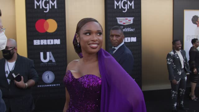 """jennifer hudson at the """"respect"""" los angeles premiere at regency village theatre on august 8, 2021 in los angeles, california. - respect stock videos & royalty-free footage"""