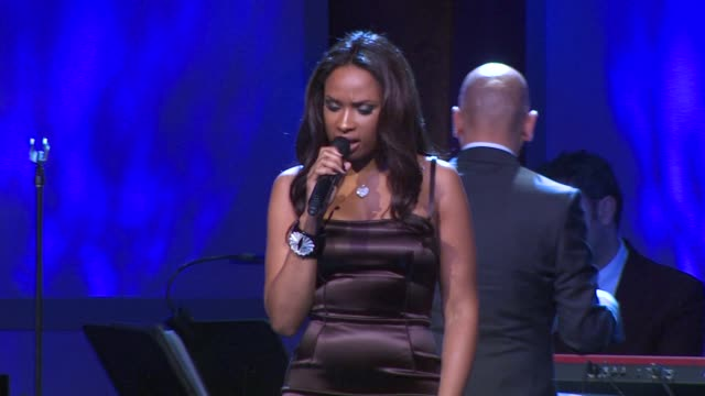 jennifer hudson at the the ambassadors for humanity gala - jennifer hudson stock videos & royalty-free footage