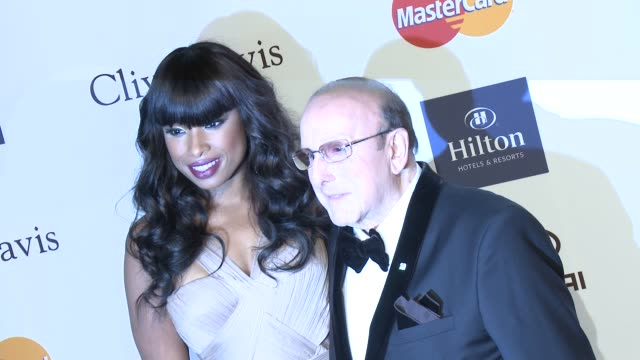 jennifer hudson, clive davis at pre-grammy gala & salute to industry icons with clive davis honoring antonio l.a. reid 2/9/2013 in beverly hills, ca. - ジェニファー・ハドソン点の映像素材/bロール