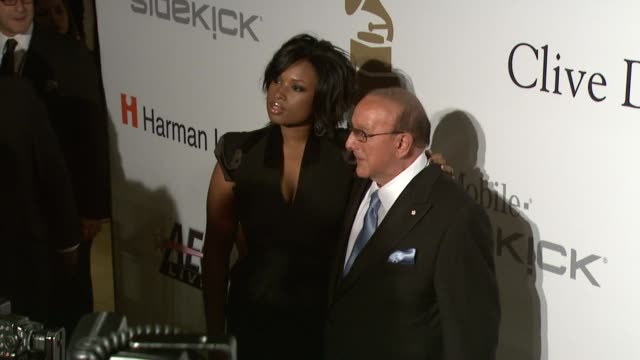 jennifer hudson, clive davis at the pre-grammy gala & salute to industry icons with clive davis at los angeles ca. - ジェニファー・ハドソン点の映像素材/bロール