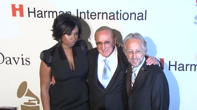 Jennifer Hudson Clive Davis Neil Portnow at the PreGRAMMY Gala Salute to Industry Icons with Clive Davis at Los Angeles CA