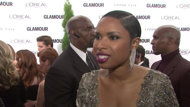 interview jennifer hudson discusses performing tonight and her upcoming performance in broadway's the color purple on what she loves about this event... - jennifer hudson stock videos & royalty-free footage