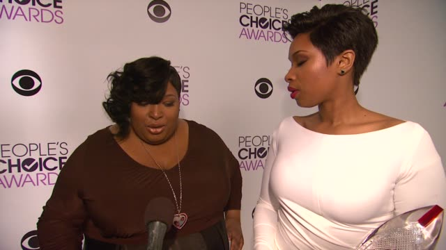 INTERVIEW Jennifer Hudson Julia Hudson on the event at 40th Annual People's Choice Awards Portrait Room at Nokia Theatre LA Live on in Los Angeles...