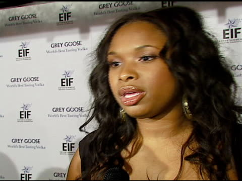 Jennifer Hudson on being the first person to drive in the Grey Goose RollsRoyce on the program with EIF and the social issues surrounding the program...