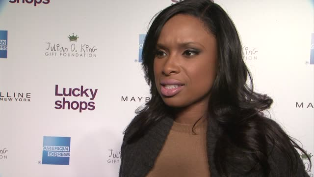 Jennifer Hudson on her love of shopping her charity and giving back at Lucky Magazine Hosts 9th Annual Lucky Shops at 82 Mercer on December 06 2012...