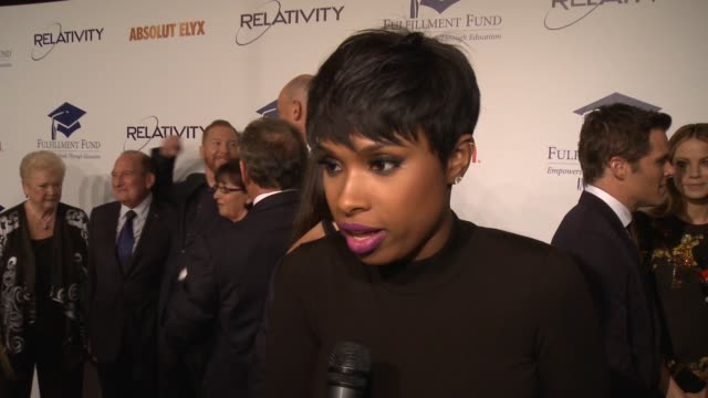 interview jennifer hudson on the fulfillment fund ryan kavanaugh being honored at the 20th annual fulfillment fund stars benefit gala red carpet... - direttrice video stock e b–roll