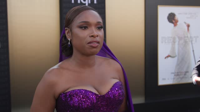 jennifer hudson on what it meant to step into the role of ms. franklin, how she prepared to play one of her legends and how she hopes aretha would... - westwood neighborhood los angeles stock videos & royalty-free footage
