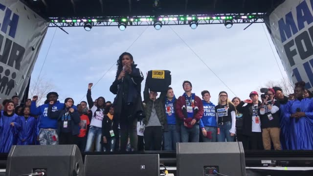 jennifer hudson performs during the march for our lives rally on on march 24 2018 in washington dc more than 800 march for our lives events organized... - march for our lives video stock e b–roll