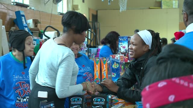 WGN Jennifer Hudson Talks to Kids at St Sabina Catholic Church located at 1210 W 78th Place in Chicago on during the to Jennifer Julia Hudson's...
