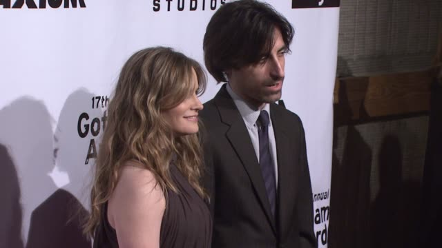 jennifer jason leigh and noah baumbach at the 17th annual gotham awards presented by ifp at steiner studios in brooklyn new york on november 27 2007 - noah baumbach stock videos and b-roll footage