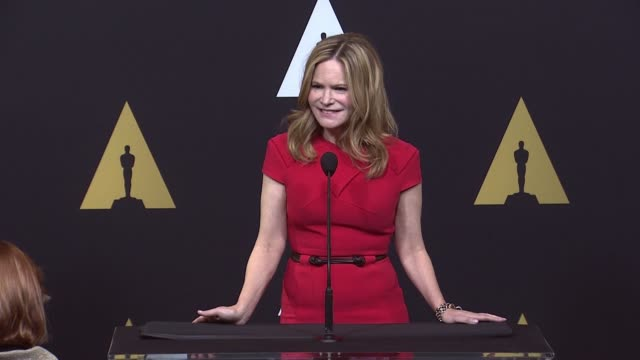 jennifer jason leigh at 88th annual oscars® nominees luncheon at the beverly hilton hotel on february 08, 2016 in beverly hills, california. - the beverly hilton hotel点の映像素材/bロール