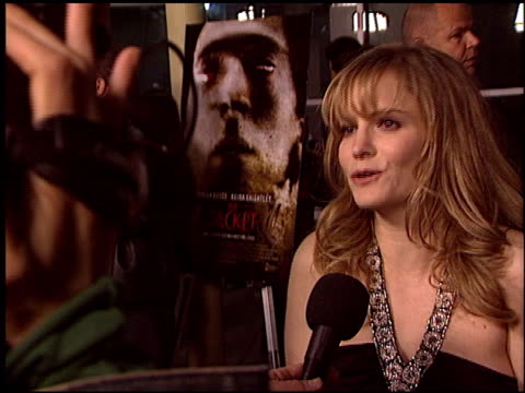 jennifer jason leigh at the premiere of 'the jacket' at pacific arclight theatre in los angeles, california on february 28, 2005. - 77th annual academy awards stock videos & royalty-free footage