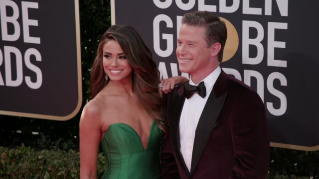 jennifer lahmers and billy bush at the 77th annual golden globe awards at the beverly hilton hotel on january 05, 2020 in beverly hills, california. - golden globe awards stock videos & royalty-free footage
