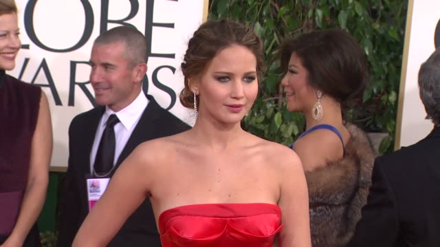 Jennifer Lawrence at 70th Annual Golden Globe Awards Arrivals on 1/13/13 in Los Angeles CA