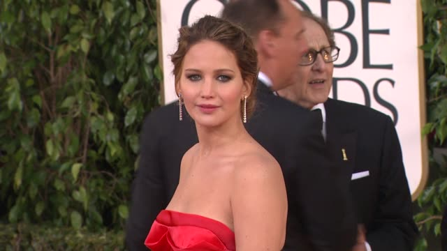 jennifer lawrence at 70th annual golden globe awards - arrivals on 1/13/13 in los angeles, ca . - golden globe awards stock videos & royalty-free footage