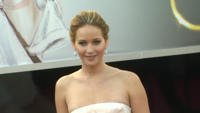 jennifer lawrence at 85th annual academy awards arrivals 2/24/2013 in hollywood ca - oscars stock videos & royalty-free footage