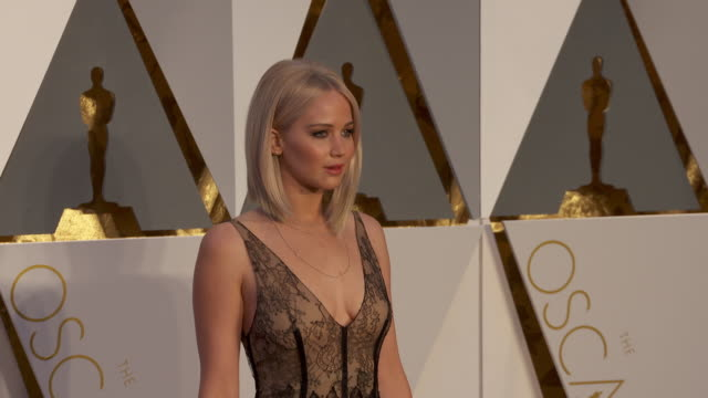 Jennifer Lawrence at 88th Annual Academy Awards Arrivals at Hollywood Highland Center on February 28 2016 in Hollywood California 4K