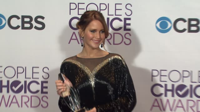 Jennifer Lawrence at People's Choice Awards 2013 Press Room on 1/9/2013 in Los Angeles CA