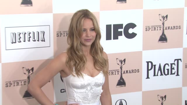 jennifer lawrence at the 2011 independent spirit awards - arrivals part 2 at santa monica ca. - independent feature project stock videos & royalty-free footage