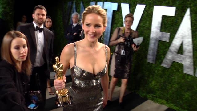 Jennifer Lawrence at The 2013 Vanity Fair Oscar Party Hosted By Graydon Carter Jennifer Lawrence at The 2013 Vanity Fair Oscar at Sunset Tower on...