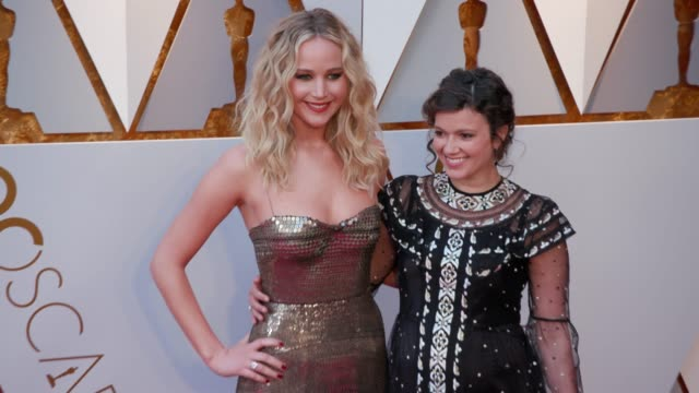 Jennifer Lawrence at the 90th Academy Awards Arrivals 4K Footage at Dolby Theatre on March 04 2018 in Hollywood California