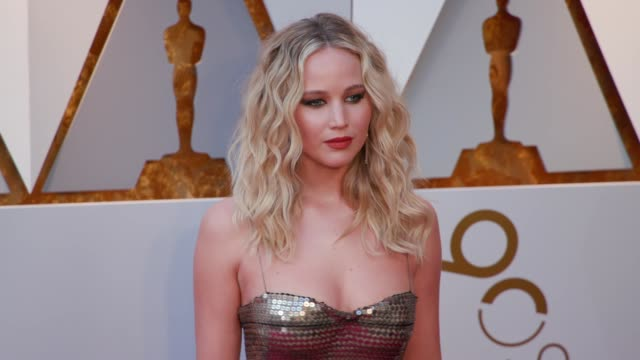 jennifer lawrence at the 90th academy awards arrivals at dolby theatre on march 04 2018 in hollywood california - 90th annual academy awards stock videos & royalty-free footage