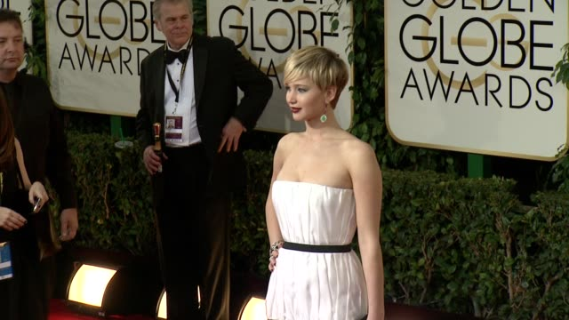 jennifer lawrence at the beverly hilton hotel on in beverly hills, california. - the beverly hilton hotel stock videos & royalty-free footage