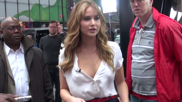 jennifer lawrence at the 'good morning america' studio jennifer lawrence at the 'good morning america' st on march 21 2012 in new york new york - good morning america stock videos and b-roll footage