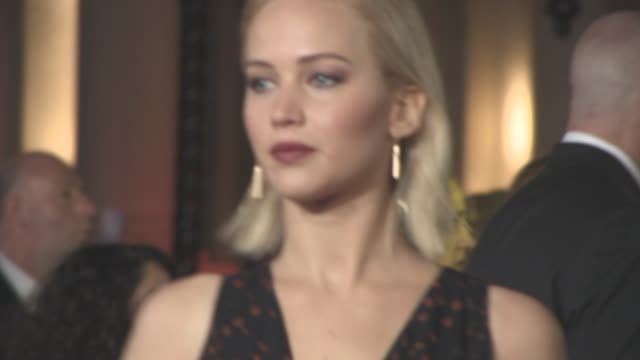 jennifer lawrence at 'the hunger games: mockingjay part 2' uk film premiere at odeon leicester square on november 5, 2015 in london, england. - leicester square stock videos & royalty-free footage
