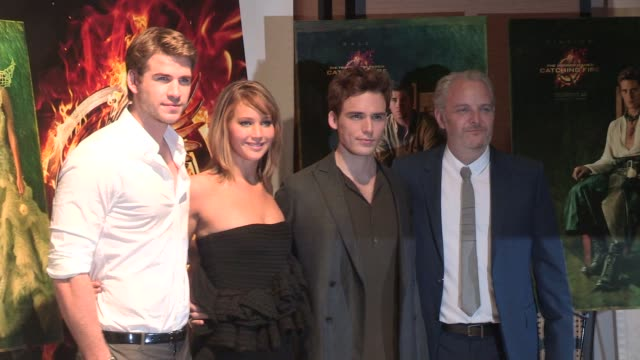 Jennifer Lawrence Liam Hemsworth Sam Claflin and Francis Lawrence Celebrity Sightings on May 18 2013 in Cannes France