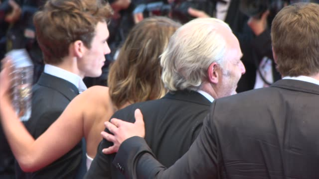 Jennifer Lawrence Sam Claflin Francis Lawrence and Alan Ritchson at 'Jimmy P' Red Carpet at Palais des Festivals on May 18 2013 in Cannes France