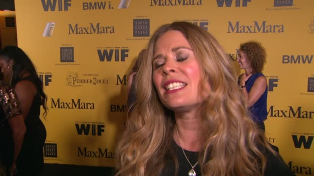 stockvideo's en b-roll-footage met jennifer lee on what it means to receive this honor why wif is important in today's industry and her advice for young women hoping to break into the... - century plaza