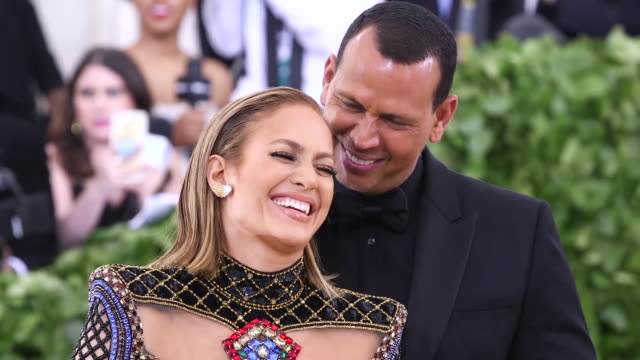 jennifer lopez and alex rodriguez at heavenly bodies fashion the catholic imagination costume institute gala at the metropolitan museum of art on may... - b roll stock videos & royalty-free footage