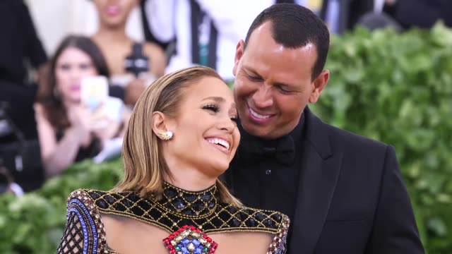 jennifer lopez and alex rodriguez at heavenly bodies fashion the catholic imagination costume institute gala at the metropolitan museum of art on may... - jennifer lopez stock videos & royalty-free footage