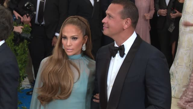 Jennifer Lopez and Alex Rodriguez at 'Rei Kawakubo/Comme des Garcons Art Of The InBetween' Costume Institute Gala Arrivals at The Metropolitan Museum...