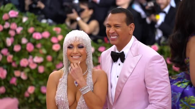 Jennifer Lopez and Alex Rodriguez at The 2019 Met Gala Celebrating Camp Notes on Fashion Arrivals at Metropolitan Museum of Art on May 06 2019 in New...