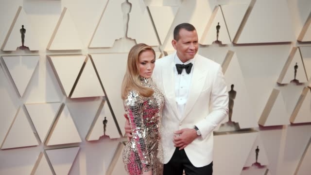 jennifer lopez and alex rodriguez at the 91st academy awards arrivals at dolby theatre on february 24 2019 in hollywood california - academy awards stock videos & royalty-free footage