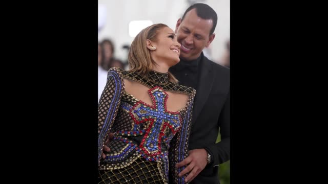 Jennifer Lopez and Alex Rodriguez attends the Heavenly Bodies Fashion The Catholic Imagination Costume Institute Gala at The Metropolitan Museum of...