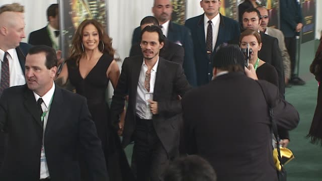 jennifer lopez and marc anthony at the 2006 latin grammy awards at msg in new york, new york on november 2, 2006. - latin grammy awards stock videos & royalty-free footage