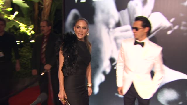 jennifer lopez and marc anthony at the 2010 vanity fair oscar party hosted by graydon carter at west hollywood ca - graydon carter stock videos and b-roll footage