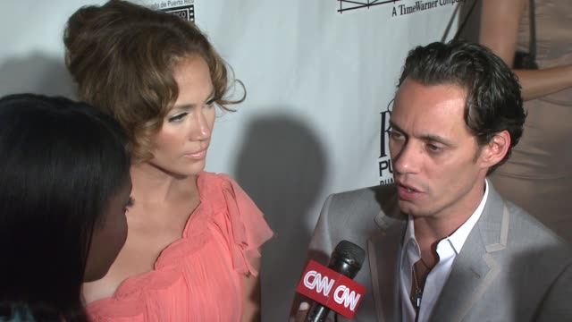 jennifer lopez and marc anthony at the 'el cantante' new york premiere at amc theatres at 42nd street in new york new york on july 26 2007 - 42nd street stock videos & royalty-free footage