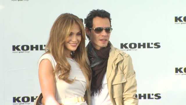 jennifer lopez and marc anthony at the jennifer lopez marc anthony announce plans to launch two exclusive lifestyle brands at kohl's department... - kohls stock videos & royalty-free footage