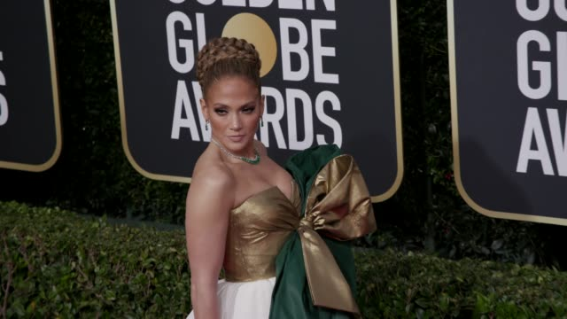 jennifer lopez at 77th annual golden globe awards at the beverly hilton hotel on january 05 2020 in beverly hills california - golden globe awards stock videos & royalty-free footage