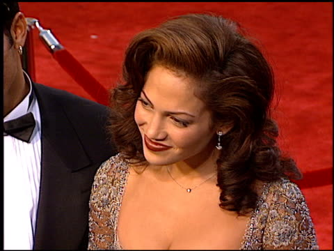 jennifer lopez at the 1997 academy awards arrivals at the shrine auditorium in los angeles california on march 24 1997 - 69th annual academy awards stock videos & royalty-free footage