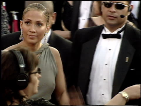 jennifer lopez at the 2001 academy awards at the shrine auditorium in los angeles california on march 25 2001 - 73rd annual academy awards stock videos & royalty-free footage