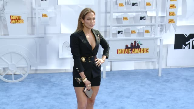 Jennifer Lopez at the 2015 MTV Movie Awards at Nokia Theatre LA Live on April 12 2015 in Los Angeles California