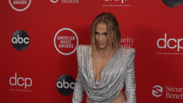 jennifer lopez at the 2020 american music awards at the microsoft theater on november 22, 2020 in los angeles, california. - microsoft theater los angeles stock videos & royalty-free footage